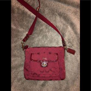 Coach Burgundy Crossbody Bag